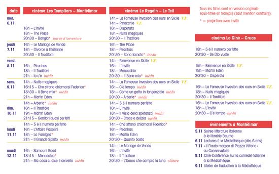 Programme FESTIVAL MONTELIMAR - LE TEIL 2019